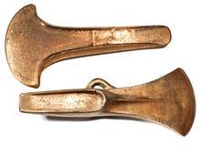 Teste di ascia di età del bronzo fotografie stock libere da diritti