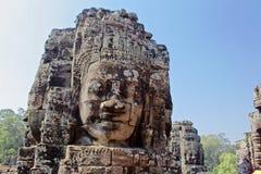 Teste di Buddha al tempio di Bayon in Angkor Wat fotografia stock