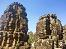 Teste di Buddha al tempio di Bayon in Angkor Wat fotografia stock libera da diritti