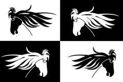 Teste di cavallo isolate illustrazione vettoriale