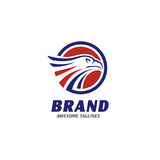Teste di Eagle con il logo del cerchio Fotografia Stock