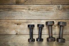 Teste di legno - concetto di forma fisica Immagini Stock