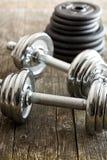 Teste di legno del ferro Fotografie Stock