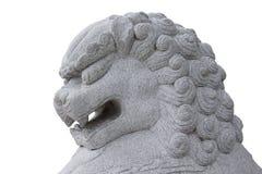 Teste di pietra del leone. fotografie stock