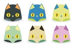 Teste divertenti del gatto royalty illustrazione gratis