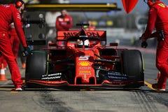 Teste do Fórmula 1 imagens de stock