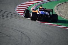 Teste do Fórmula 1 fotografia de stock