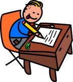Teste do menino de escola ilustração royalty free