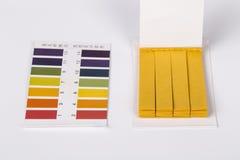 Teste do pH do tornassol foto de stock