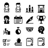 Teste, exame, ícone da avaliação Imagem de Stock