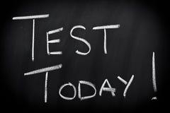 Teste hoje Imagem de Stock Royalty Free