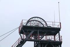 Teste motrici della miniera di carbone Immagini Stock Libere da Diritti