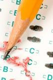 Teste o Quiz fotografia de stock