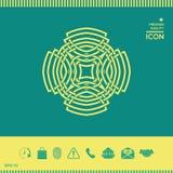 Teste padrão árabe geométrico Elemento do logotipo para seu projeto Foto de Stock