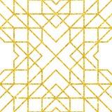 Teste padrão árabe sem emenda dourado Foto de Stock
