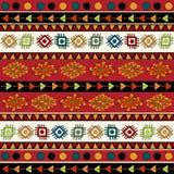 Teste padrão étnico abstrato em cores vívidas. Foto de Stock Royalty Free