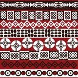 Teste padrão étnico com símbolos africanos Fotos de Stock Royalty Free