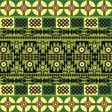 Teste padrão étnico com símbolos africanos & ornamento Foto de Stock Royalty Free