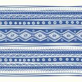 Teste padrão étnico desenhado à mão abstrato, tribal Fotografia de Stock Royalty Free
