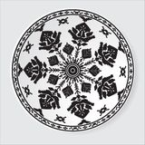Teste padrão étnico do ornamento Ilustração do vetor Fotos de Stock Royalty Free