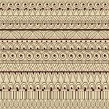 Teste padrão étnico do sumário sem emenda do vetor Ilustração do Vetor