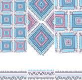 Teste padrão étnico do vintage tribal sem emenda Fotos de Stock