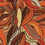 Teste padrão étnico em cores de terra com os motivos de um protetor da dança dos povos do kikuyu de Kenya central Foto de Stock Royalty Free