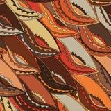 Teste padrão étnico em cores de terra com os motivos de um protetor da dança dos povos do kikuyu de Kenya central Fotografia de Stock