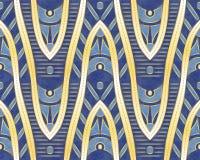 Teste padrão étnico Fôrmas douradas Projeto étnico Fundo do vetor ilustração royalty free