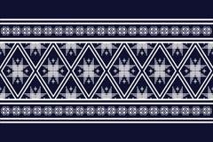 Teste padrão étnico geométrico ilustração stock