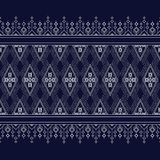 Teste padrão étnico geométrico na obscuridade - azul ilustração royalty free
