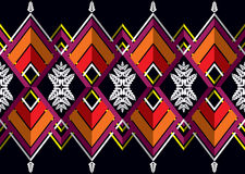 Teste padrão étnico Projeto geométrico do teste padrão para o fundo ou o papel de parede Foto de Stock Royalty Free