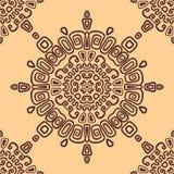 Teste padrão étnico sem emenda da circular. Patt sem emenda ilustração stock