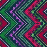Teste padrão étnico sem emenda da viga do ziguezague Foto de Stock Royalty Free