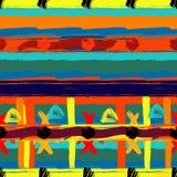 Teste padrão étnico sem emenda das pinceladas abstratas Imagens de Stock