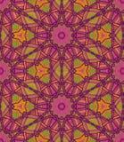 Teste padrão étnico sem emenda do vetor com simetria axial ilustração do vetor