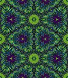 Teste padrão étnico sem emenda do vetor com simetria axial ilustração stock
