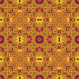 Teste padrão étnico sem emenda do vetor com simetria axial ilustração royalty free