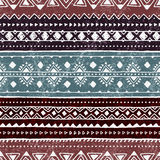Teste padrão étnico sem emenda Ornamento geométrico colorido do vetor Imagens de Stock Royalty Free