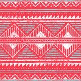Teste padrão étnico sem emenda Ornamento no estilo tribal Textur do Grunge ilustração royalty free