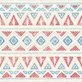 Teste padrão étnico sem emenda Ornamento no estilo tribal Textur do Grunge ilustração do vetor