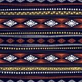 Teste padrão étnico sem emenda tirado à mão EL geométrico colorido Imagem de Stock