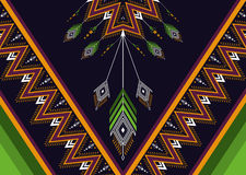 Teste padrão étnico Teste padrão geométrico Foto de Stock Royalty Free