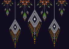 Teste padrão étnico Teste padrão geométrico Fotos de Stock Royalty Free