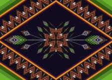 Teste padrão étnico Teste padrão geométrico projete para o fundo e o papel de parede, o teste padrão da roupa, e o envolvimento Fotos de Stock Royalty Free