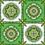 Teste padrão étnico verde Imagem de Stock