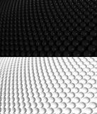 teste padrão 2 do fundo da esfera 3D Imagem de Stock