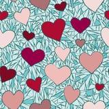 Teste padrão 2 dos corações Foto de Stock
