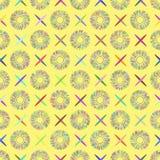 Teste padrão abstratamente sem emenda feito de elementos coloridos Imagens de Stock Royalty Free