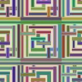 Teste padrão abstratamente sem emenda feito de retângulos coloridos Imagens de Stock